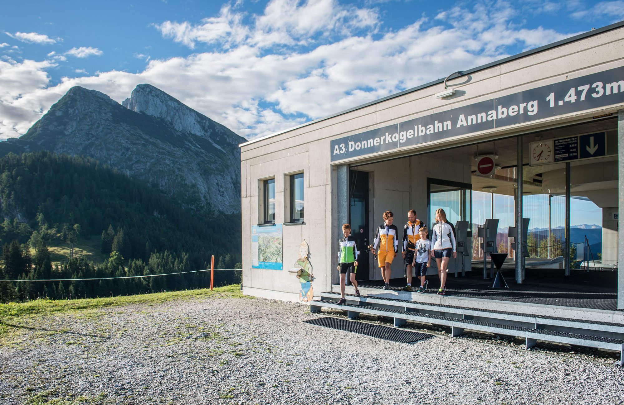Mountain station of the Donnerkogl cable car in Annaberg-Lungötz