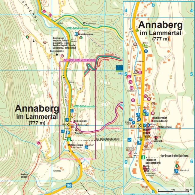 Resort map, Annaberg-Lungötz Tourist Office